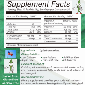 Spirulina Is Loaded with Vitamins and Antioxidants
